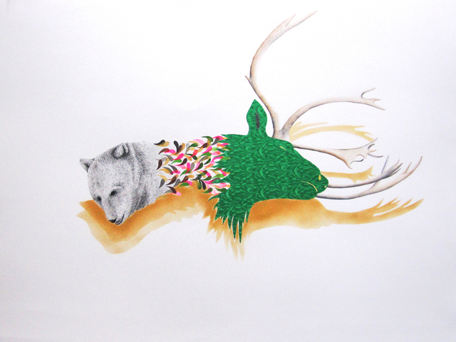 , 'Complex relationship (bear and deer),' 2013, CULT | Aimee Friberg Exhibitions
