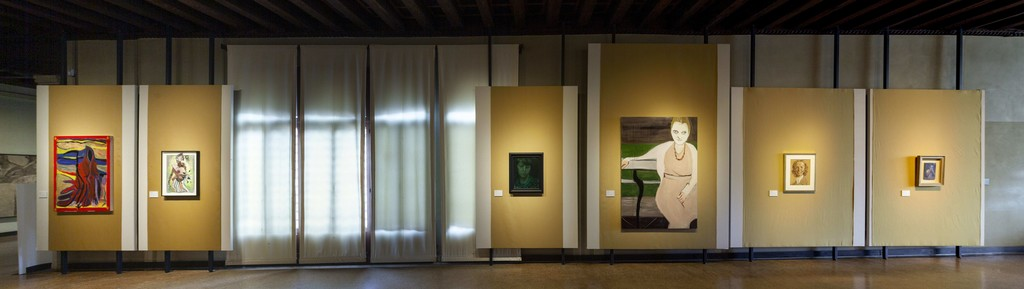 """Install shot """"Contemporary Dialogues with Tintoretto"""". Image courtesy of Zuecca Projects. Photography by Marco Dabbicco"""