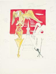 Salvador Dalí, 'La Fusée (The Rocket), for Hommage à Leonardo da Vinci (American Inventions),' 1975, Phillips: Evening and Day Editions
