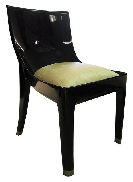 , 'Prototype Single Commission Black Lacquer Chair,' ca. 1925, DeLorenzo Gallery