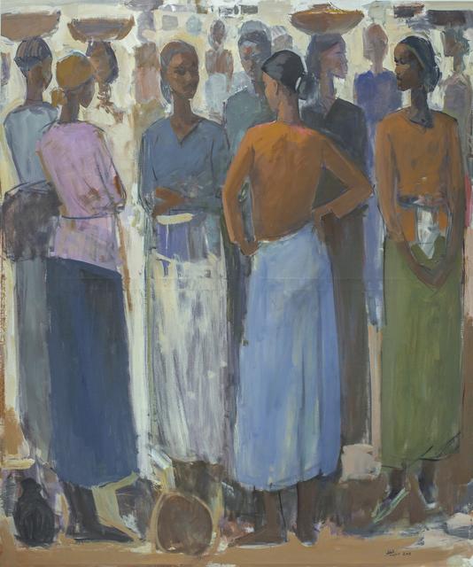 , 'Pillars of Life: Saturday Market II,' 2018, Addis Fine Art