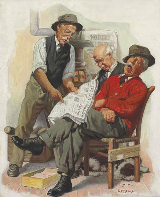 Joseph Francis Kernan, 'Talking Politics', 20th Century, The Illustrated Gallery