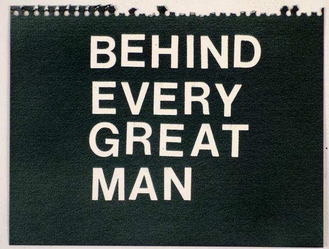 , 'Behind Every Great Man (black),' , Rodolphe Janssen