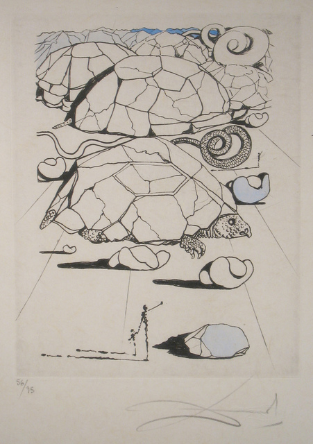 Salvador Dalí, 'The Turtle', 1967, Print, Etching on  Japon Paper, DTR Modern Galleries