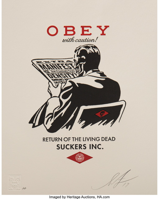 Shepard Fairey (OBEY), 'Obey with Caution', 2017, Heritage Auctions