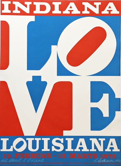 Robert Indiana, 'The American Love (Hand Signed and Inscribed to Richard Lugar, Mayor of Indianapolis who later became a distinguished US Senator)', 1972, Alpha 137 Gallery