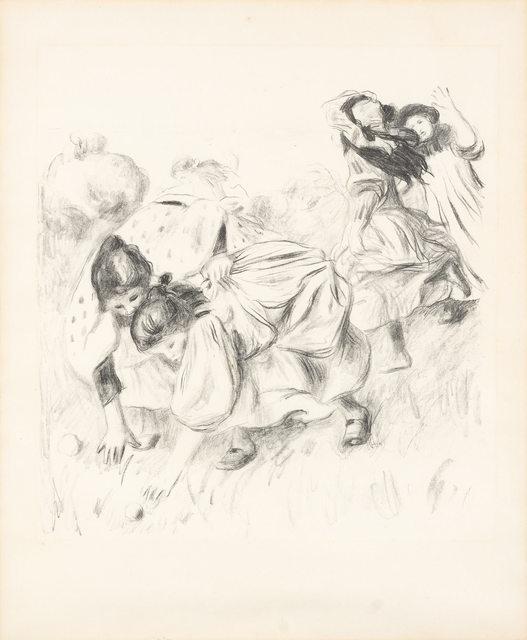 Pierre-Auguste Renoir, 'ENFANTS JOUANT À LA BALLE (DELTEIL 32)', circa 1900, Doyle
