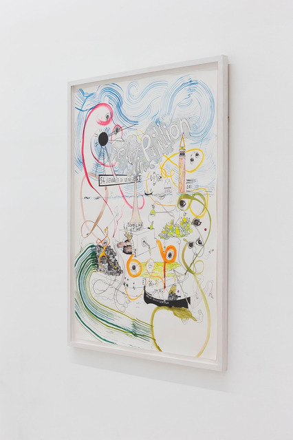 Gelitin, 'gelatin pavillon - some like it hot', 2011, Pencil, ink, permanent marker, opaque white, water colour on screen print, Perrotin