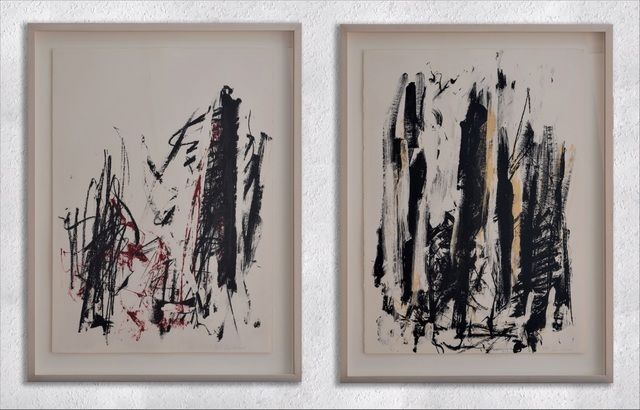 Joan Mitchell, 'Trees ( Black and Red - Black and Yellow )', 1991-1992, Galerie F. Hessler