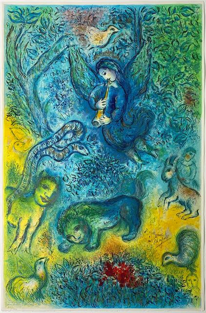 Marc Chagall, 'La flûte enchantée (The Magic Flute)', 1967, Print, Color Lithograph on Arches Paper, Masterworks Fine Art