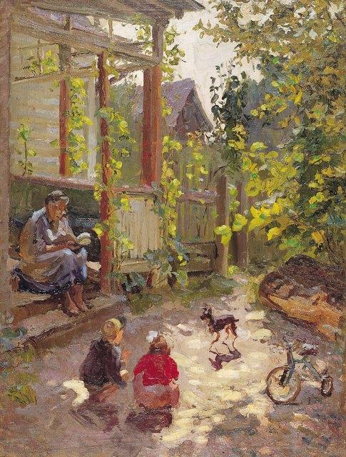 Lidya Stanislavovna Nefedova, 'Little garden', 1956, Painting, Oil on canvas, Surikov Foundation