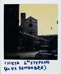 Chiesa di Santo Stefano (da via XX Settembre) - polaroid con Vedute di Genova