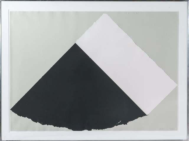Ellsworth Kelly, 'Dark Gray and White', 1977-79, Print, Screenprint and collage on handmade paper, Gregg Shienbaum Fine Art