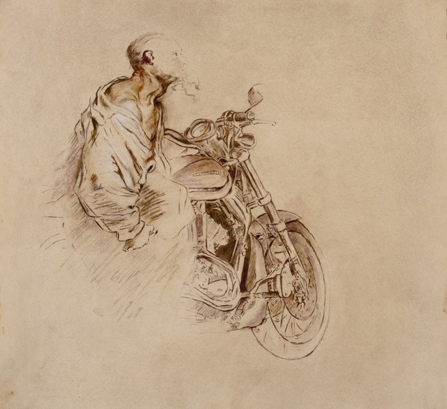 , 'The Biker after Van Dyck's Old Bearded Man Carrying a Bundle,' 2013, Francis M. Naumann Fine Art