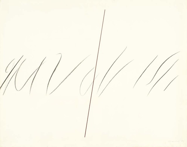 , 'Espai blanc amb línia i gest,' 1973, Ana Mas Projects
