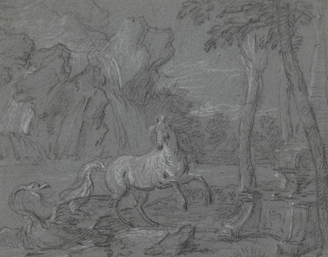 , 'A horse surprised by a swan in a landscape: a scene from Ovid's Metamorphoses,' , Christie's Old Masters