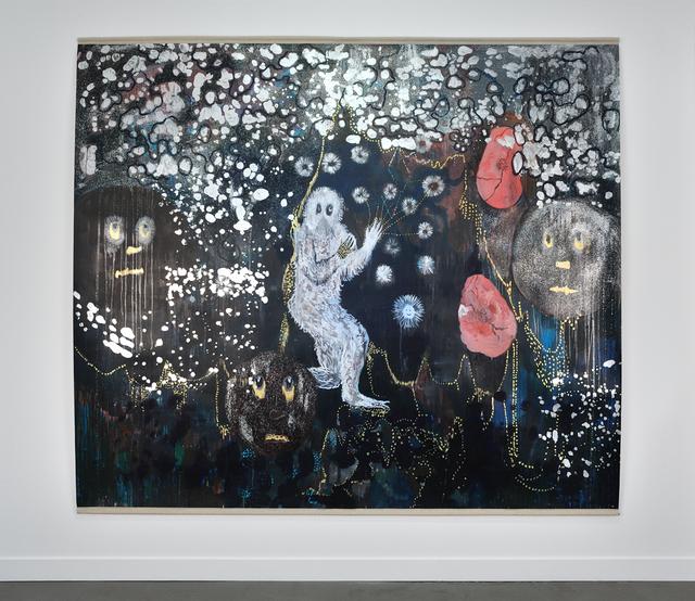 , 'L'homme-singe en fausse fourrure a disparu,' 2014, Galerie Christophe Gaillard