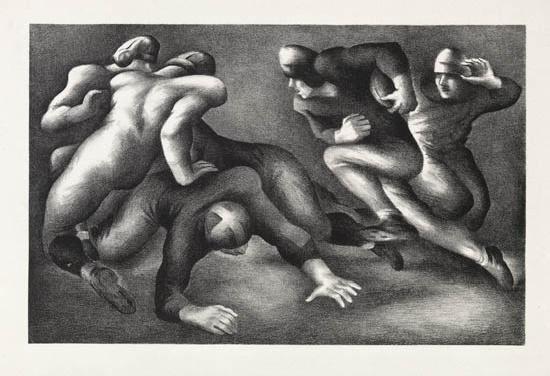 Benton Spruance, 'A Short Gain', 1936, Print, Lithograph, Kiechel Fine Art