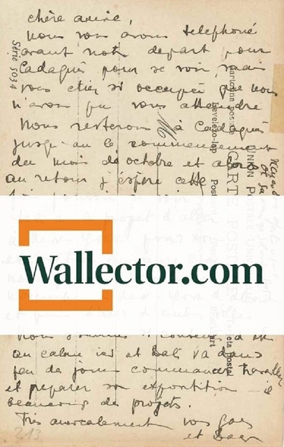 ", '""From the Cliff of Creuse Cape"": Autograph PostCard by Dalì,' 1934, Wallector"