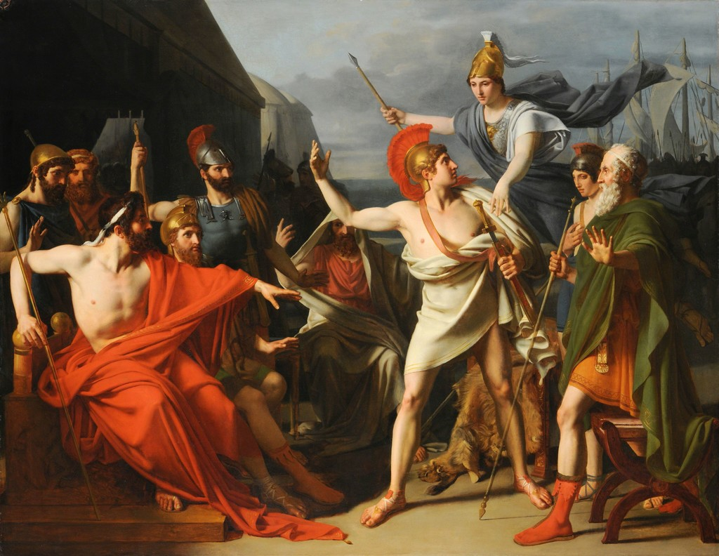 Michel-Martin Drolling & Jean-Auguste-Dominique Ingres | Achilles Receiving the Ambassadors ...