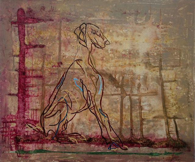 Uli Lächelt, 'Greyhound', 2016, Galerie Makowski
