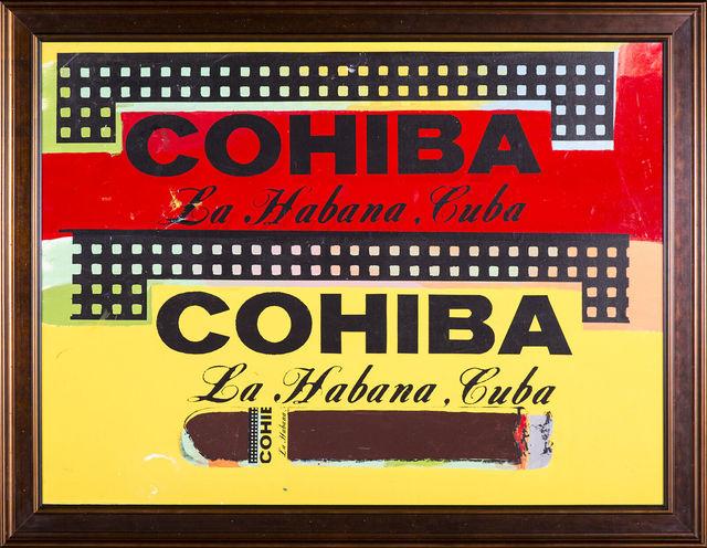 Steve Kaufman, 'Double Cohiba Cigar Original Oil Painting Warhol Famous Assistant', 1996, Modern Artifact