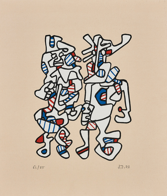 Jean Dubuffet, 'Parade nuptiale (Courtship)', 1973, Print, Screenprint in colours, on tan Canson paper, with full margins., Phillips