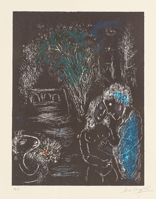 Marc Chagall, 'Green Tree with Lovers', 1980, Print, Lithograph in colors on Arches paper (framed), Rago/Wright