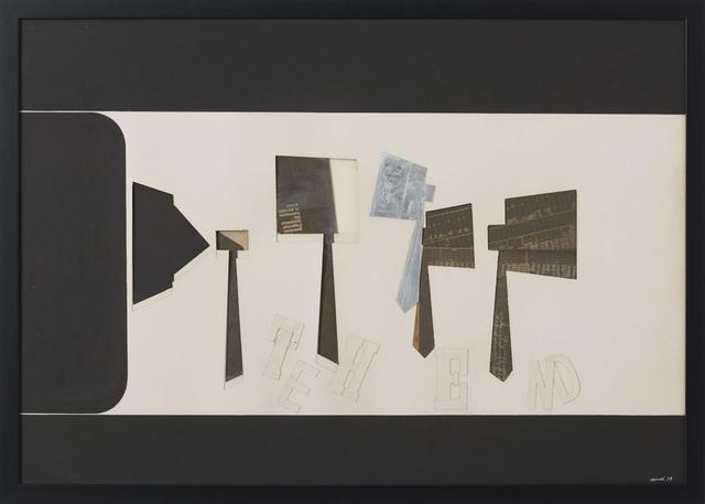 , 'The End,' 1971, Erica Ravenna Arte Contemporanea