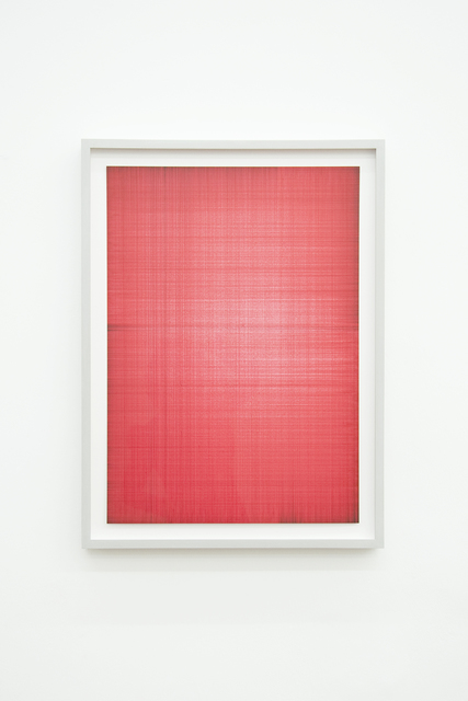 , 'Double-layer Table Drawings (Red 1),' 2014, Philipp von Rosen Galerie