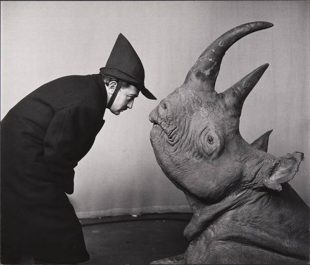 , 'Dali avec Rhinoceros (Dali with Rhinoceros),' 1956, Kunsthal Rotterdam