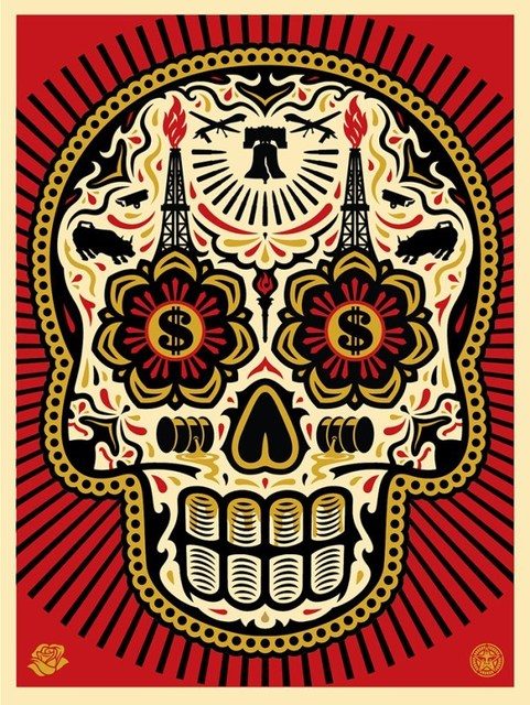 Shepard Fairey (OBEY), 'Power And Glory, Day of The Dead Skull (Red)', 2014, Dope! Gallery