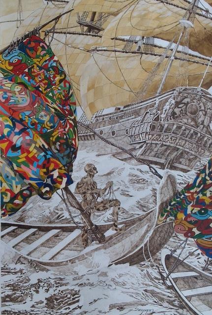 Julien Sinzogan, 'Bon Vent à Tous 2', 2015, October Gallery