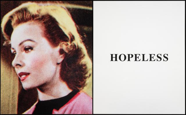 John Baldessari, 'Prima Facie (Second State): Hopeless', 2005, Phillips