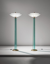"Gio Ponti and Pietro Chiesa, 'Pair of ""Zodiac"" floor lamps,' ca. 1937, Phillips: Design"