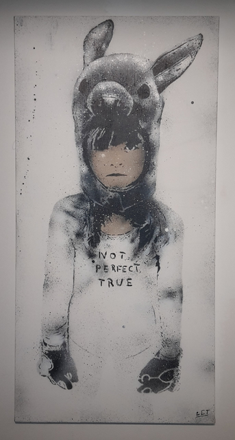 L.E.T., 'Not Perfect, True (Rabbit girl)', 2014, MUCA
