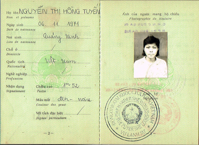 , 'Vietnamese passport,' 2010, The Moving Museum