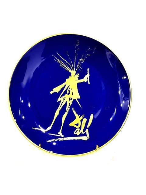 "Salvador Dalí, 'Limoges Porcelain Blue and Gold ""Faust's Silhouette"" by Salvador Dali', 1968, Galerie Philia"