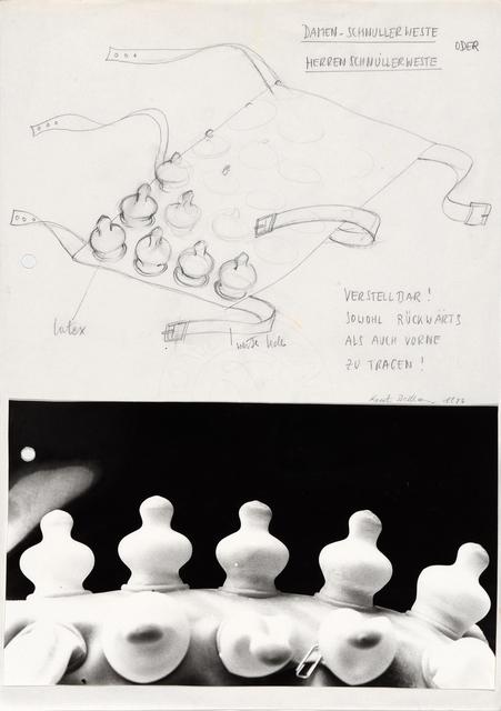 , 'Schnuller Weste III (Pacifier vest III),' 1976, Richard Saltoun