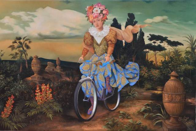 Hector Armendariz, 'Mujer Paseando en Bicileta', Galleria Dante