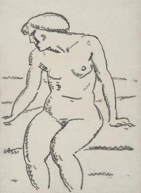 Alexej von Jawlensky, 'Nu assis avec le visage de profil', HELENE BAILLY GALLERY