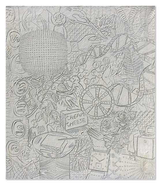 """Philip Smith, '""""White Field"""", """"Wishing Well"""", & """"Dial Nine"""" Triptych', 1998-1999, Painting, Oil and Wax on Linen, PRIMARY"""