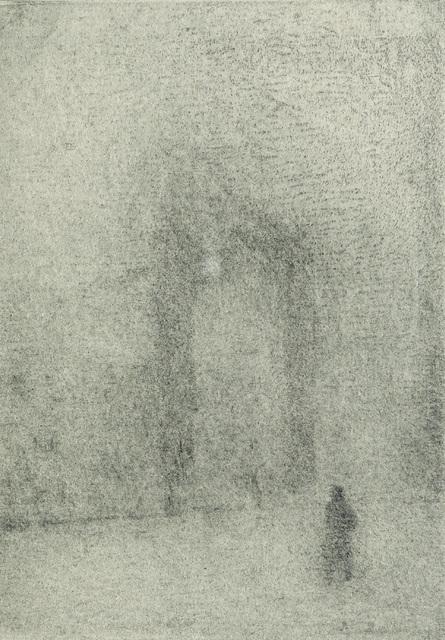 , 'Figure Approaching the British Museum,' 2008, Marlborough London