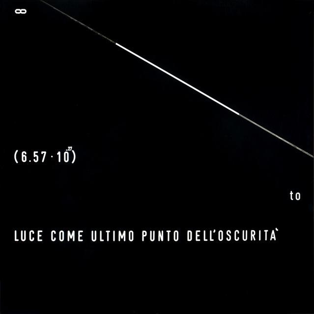 , 'Luce come ultimo punto dell'oscurità,' 1971, Galleria il Ponte