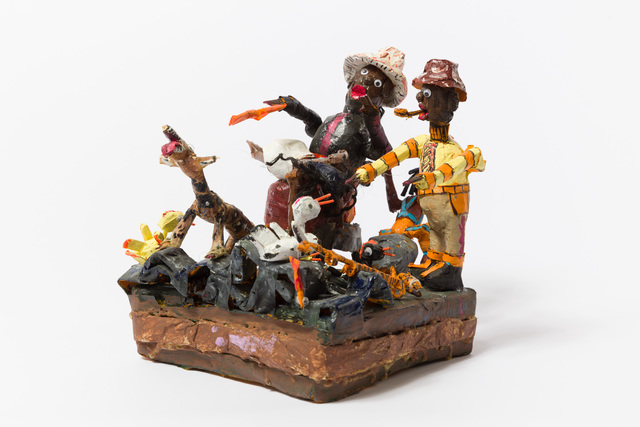 , 'Untitled (WH257 two men animal on lap many birds),' , The Good Luck Gallery