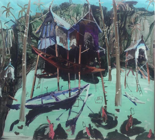 , 'Waterlillies and Bottles,' 2017, Hans Alf Gallery