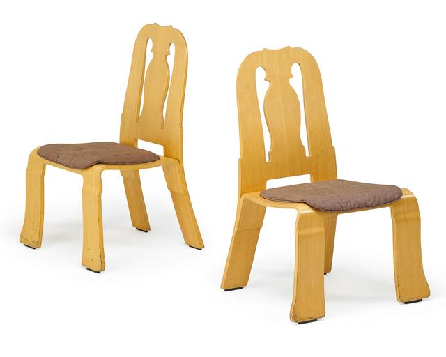 Robert Venturi, 'Pair of Queen Anne chairs, New York', 1980s, Rago