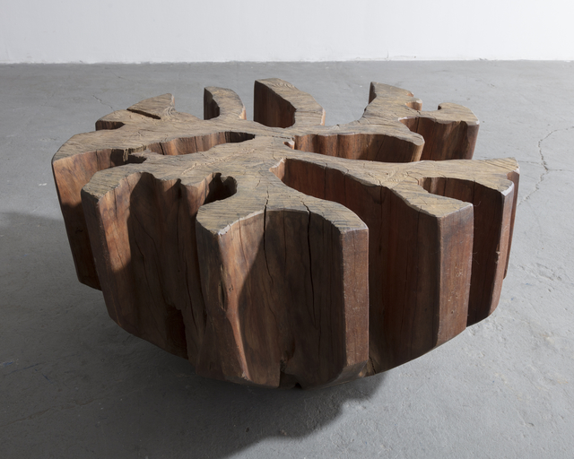 , 'Sculptural coffee table base in solid wood,' 1970-1979, R & Company