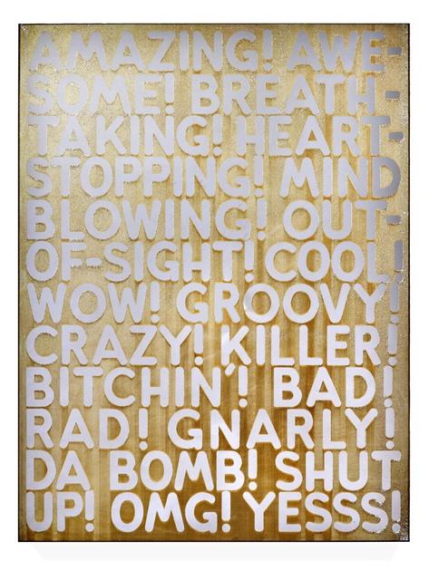 Mel Bochner, 'Amazing', 2018, DELAHUNTY