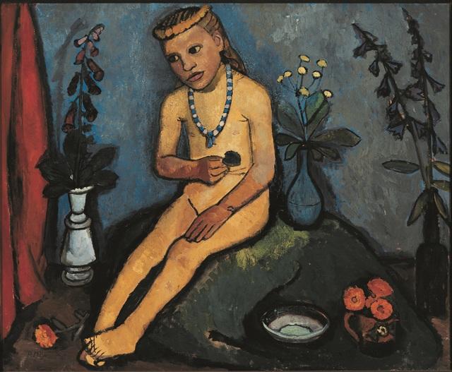 , 'Jeune Fille nue Assise, avec des Vases de Fleurs,' 1906-1907, Musée d'Art Moderne de la Ville de Paris